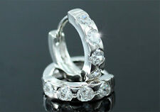 Wholesale Lot 12 Pairs Cubic Zirconia Studs White Gold Plated Earrings ME263W