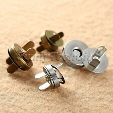 10/50 Set Magnetic Snap Fasteners Clasps Buttons Handbag Craft Sewing Studs
