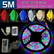5M SMD 3528/5050 RGB LED Strip Light + 12V Power Adapter+ IR Remote Waterproof