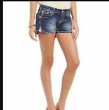Sz 24 25 26 27 28 29  New Miss Me Mid Rise Jean Shorts Blue Crystal ME8381H