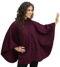 Fine Woven Alpaca Wool Cloak Wrap Cape Ruana Poncho, One Size, Solid Colors