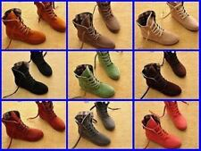 Women Lace Up Winter Boots Flat Ankle Shoes Spring Autumn 9 colors Hot Sale