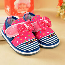 Popular Infant Baby Girls Shoes Toddler Princess Cotton Squeaky Shoes