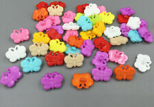 Resin buttons Mixed color butterfly Buttons Fit Sewing Scrapbook Crafts 18mm
