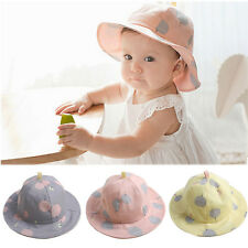 Baby Infant Kids Girls Polka Dot Cotton Hat Outdoor Cap Summer Sun Beach Hats