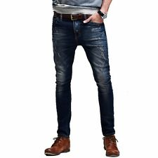 New Fashion Mens Little Stretchy Jeans Pant / Trousers Slim Skinny Blue 28 to 36