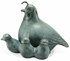 Quail and Chicks Garden Statue/Sculpture by SPI Home/San Pacific Int'l 33596