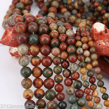 Lots 1 Bunch Picasso Stone line Agate Gem Loose Bead Pendant Necklace Jewelry