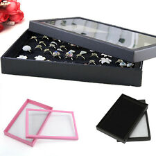 100 Slots Ring Insert Liner Storage Jewelry Show Case Box Holder Display Case