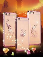 Crystal Diamond Plating Clear Rubber Soft TPU Cover Case For iphone 6 /6s Plus