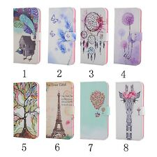Pattern Crystal Diamond Flip Leather Card Stand Wallet Case Cover For Cell Phone