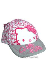 Baby Girls HELLO KITTY Patch Embroidered Floral Summer Cap/Sun-Hat  12-23 months