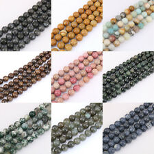 1Bunch Gemstone String Loose Round Spacer Bead Stone 4/6/8/10/12mm Jewelry Beads