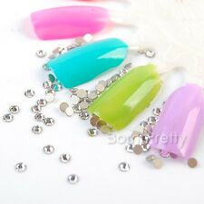 Flatback SS8 Clear Crystal 2028 Nail Art Decoration New