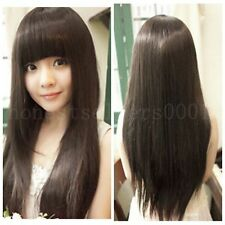 Fashion Lady Wig Heat Resistant Long Straight Hair Cosplay Costume Wigs Wig+cap