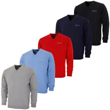 Greg Norman 2016 Mens V Neck Lambswool Blend Tour Sweater W005 Golf Pullover