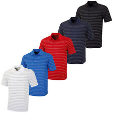 Greg Norman 2016 Mens KX49 Micro Pique Fine Stripe Golf Polo Shirt
