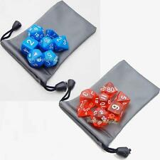 7 dice sided D4 D6 D8 D10 D12 D20 Bag DUNGEONS & DRAGONS D&D RPG Game G01