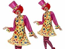 Clown Lady Costume Ladies Womens Female Circus Fancy Dress Outfit Size 8 - 22
