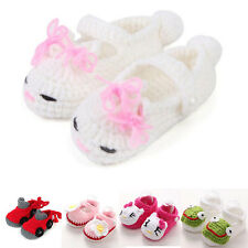 2016 Cute Handmade Newborn Toddler Baby Girls Knitted Crocheted Shoes