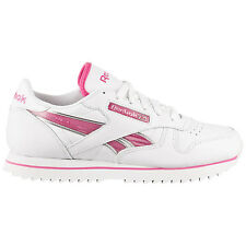 Reebok Classic Leather Etched Ripple Ladies Sneaker Shoes White NEW CL LTHR