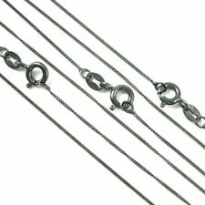 Oxidized Sterling Silver Chain 1mm Curb Necklace Chain, Black Chain-ALL SIZES