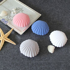 Velvet Shell Shape Gift Display Box Jewelry Earrings Ring Necklace Cases 5Colors