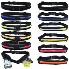 Unisex Zipper Waist Belt Wallet Travel Bag Outdoor Elastic Sports Running Pocket
