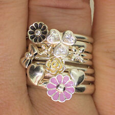 NEW 925 Sterling Silver Stacking SPINNING Fashion Rings