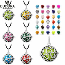 Heart Mexican Bola Chime Bell Angel Wing Cage Harmony Ball Necklace Pendant