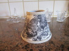 Waverly Black Petite Ferme Rooster French Country Toile Lamp Shade Chandelier