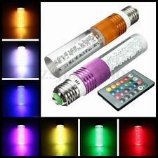 E27 RGB 16 Color Changing LED Crystal Festival Light Bulb Lamp IR Remote Control