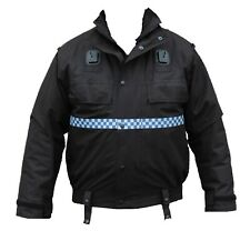 Ex Police Black Waterproof Lined  Bomber Jacket Blouson Security Dog Handler