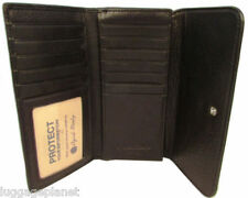 Osgoode Marley Cashmere Leather Womens RFID Blocking Card Case Wallet 1218