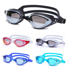 Swimming Glasses Goggle Colors Non-Fogging Anti UV Eye Protect Adult Adjustable