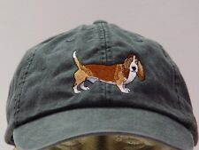 BASSET HOUND DOG HAT WOMEN MEN SOLID COLOR BASEBALL CAP Price Embroidery Apparel