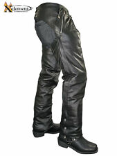 Xelement Mens Cowhide Leather Motorcycle Chaps w/Removable Insulated Liner B7561