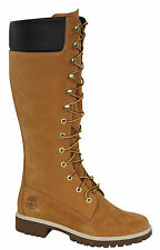 Timberland Womens Nubuck Leather 14 inch Knee High Boots Wheat Winter 3752R D1