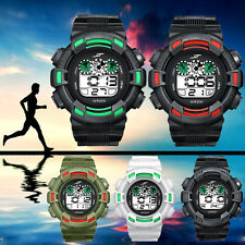 Army Waterproof Sports Watch Mens LED Watch Digital Date Alarm Rubber Wristwatch