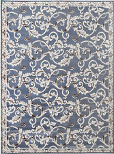 Rugs Area Rug Gray Modern Bordered Area Rug Contemporary Floral Vines Carpet