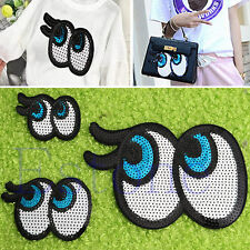 Eye Eyeball Tattoo Embroidered Applique Sequins Iron On Patch Applique Crafts