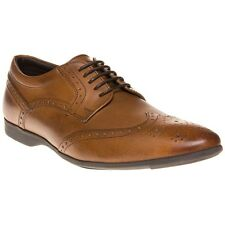 New Mens Base London Tan Garland Leather Shoes Brogue Lace Up