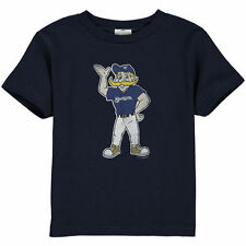 Milwaukee Brewers Toddler Distressed Mascot T-Shirt - Navy Blue