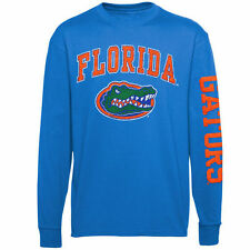 Florida Gators Youth Royal Blue Distressed Arch & Logo Long Sleeve T-Shirt