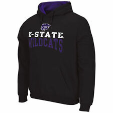 Kansas State Wildcats Charcoal Logo & Arch Pullover Hoodie