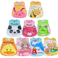 Baby Boy Girl Kids Bibs EVA Waterproof Saliva Towel Cartoon Bib Feeding Bibs New
