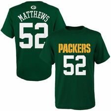 Clay Matthews Green Bay Packers Youth Green Mainliner Name & Number T-Shirt