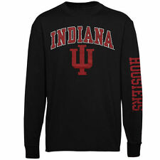 Indiana Hoosiers Youth Black Distressed Arch & Logo Long Sleeve T-Shirt