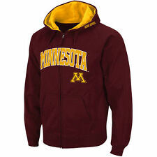Stadium Athletic Minnesota Golden Gophers Maroon Arch & Logo Full Zip Hoodie