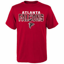 Zubaz Atlanta Falcons Youth Red Double Edge T-Shirt